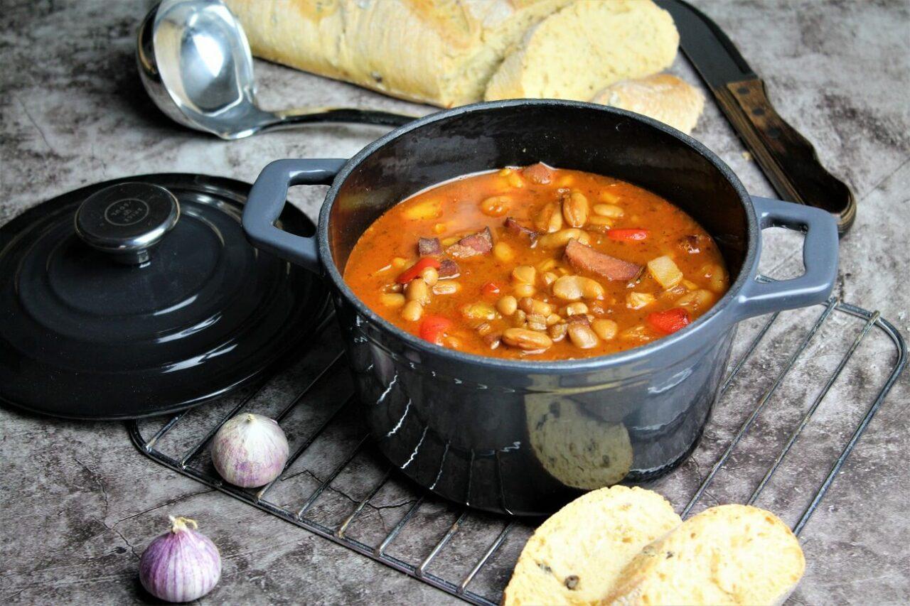 Bohnensuppe serbische Art - leckeres Kraftfutter - die frau am grill