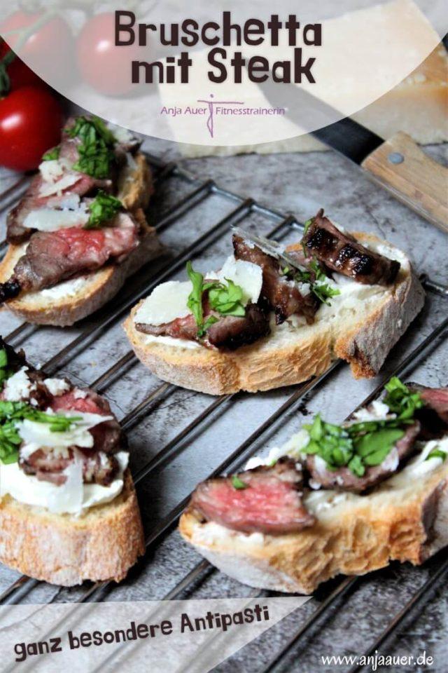 Bruschetta mit Steak - ganz besondere Antipasti - anja auer pilates trainer