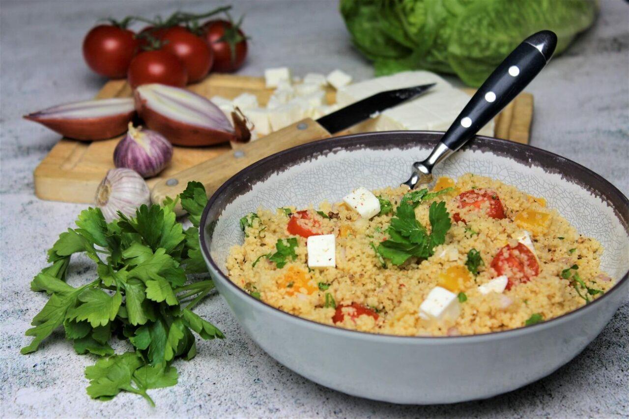 Gesunder Couscous Salat mit Feta - anja auer pilates trainer