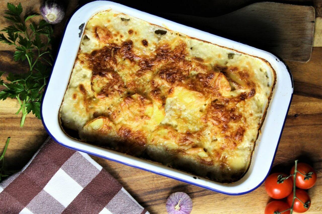 Schnelles Kartoffelgratin - überbacken mit Käse - anja auer pilates trainer