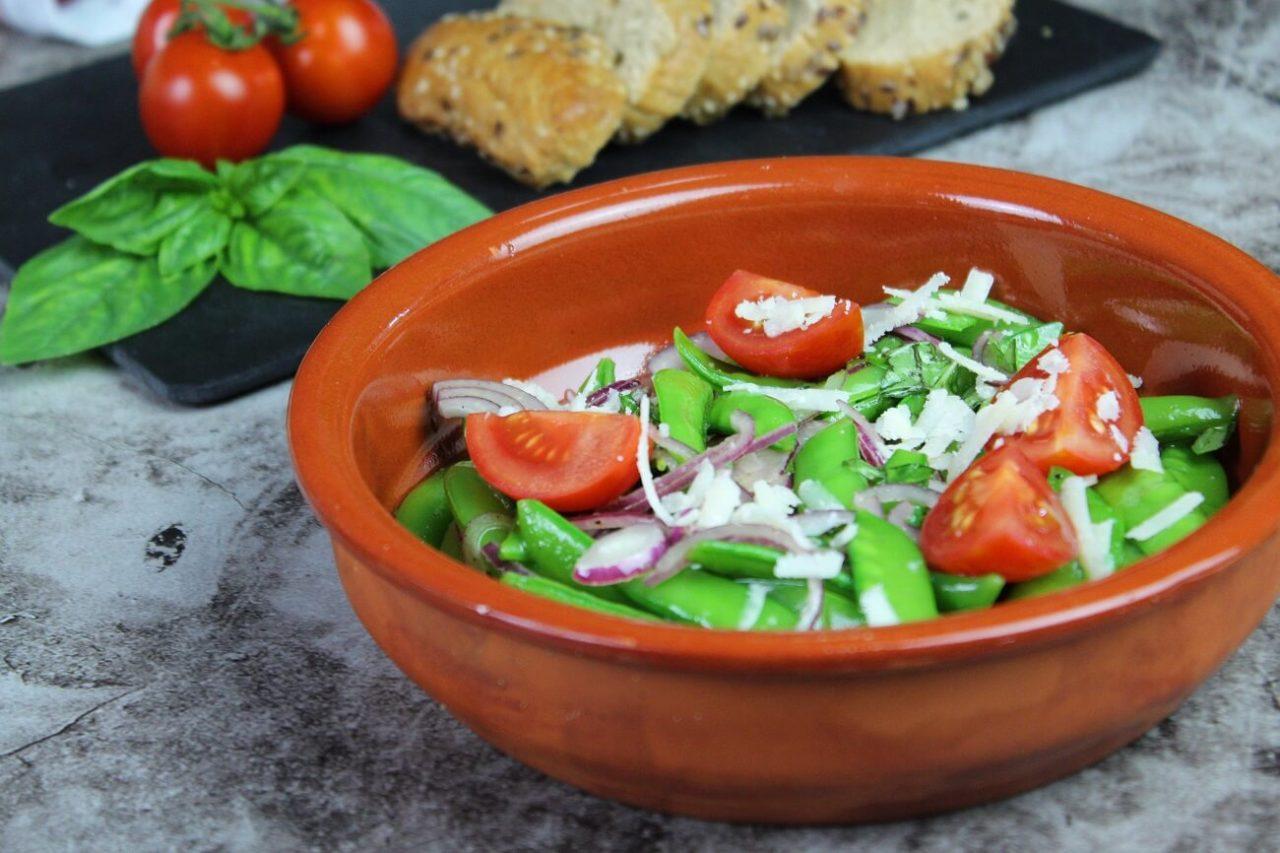 Salat mit Zuckerschoten