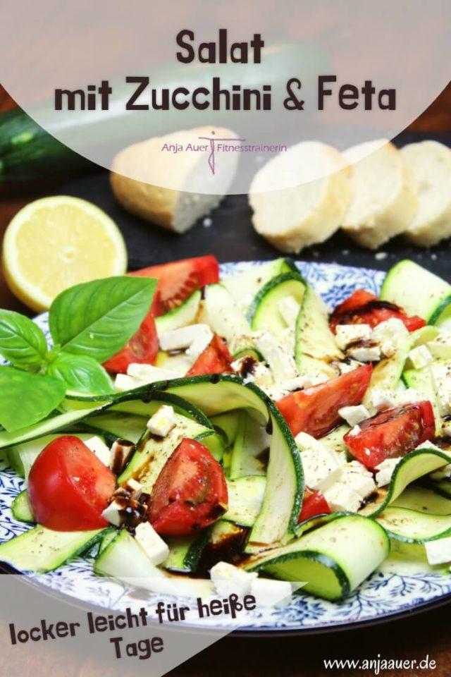 salat mit zucchini und feta - pinterest fitness