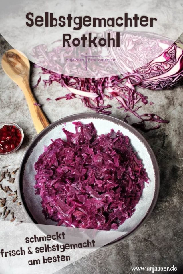selbstgemachter rotkohl - fitness pin - anja auer