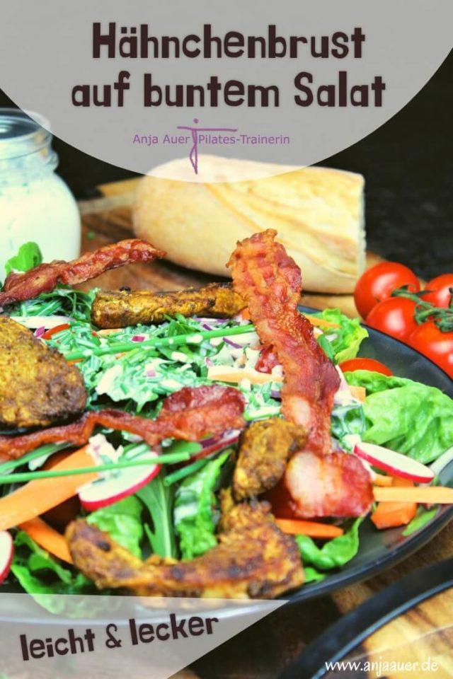Hähnchenbrust auf buntem Salat- lecker & leicht