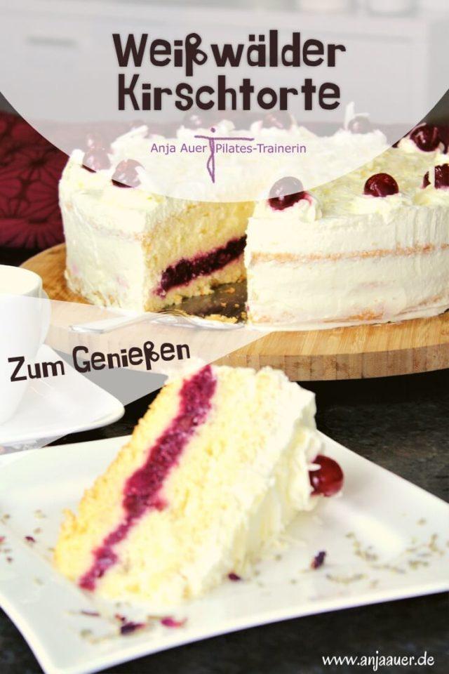 Weißwälder Torte mit Kirschen - pin
