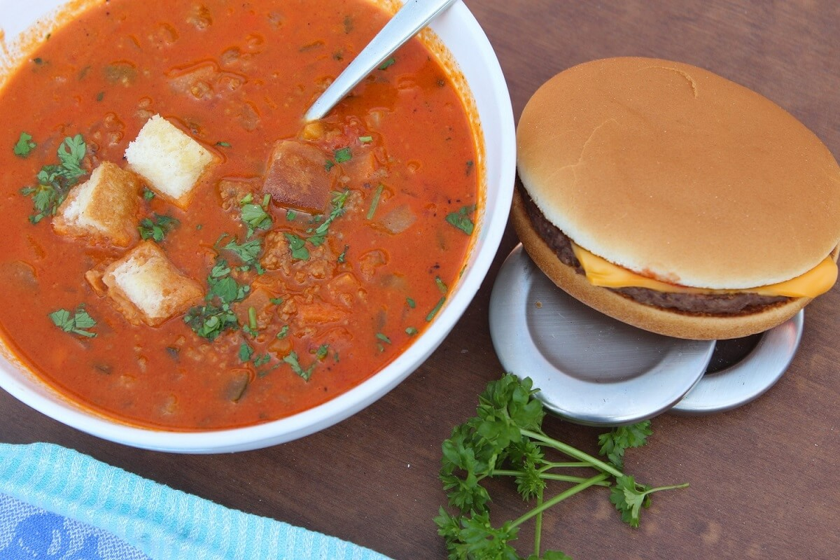 cheeseburger suppe - anja auer pilates trainerin
